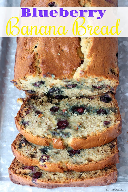 Blueberry Banana Bread recipe is a classic sweet bread that is bursting with sweet bananas and blueberries.