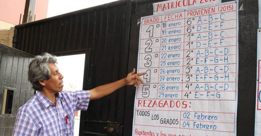 MINEDU: Colegios están obligados a publicar número de vacantes disponibles - www.minedu.gob.pe