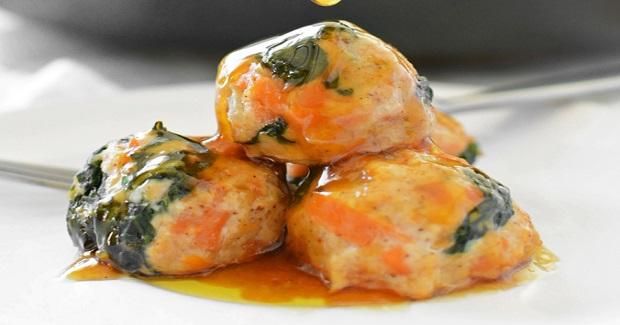 Maple Sweet Potato Chicken Meatballs Recipe
