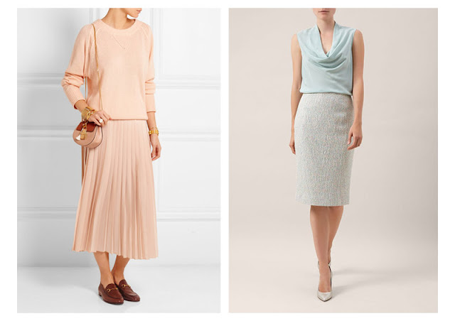 Комплекты одежды в пастельных цветах разных текстур