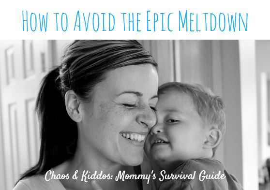 How to Avoid the Epic Meltdown: Understanding Your Child's Cues - Infographic
