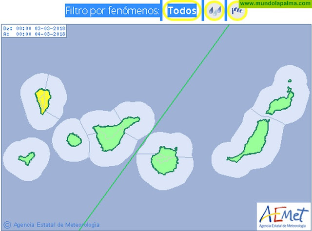 El mal tiempo vuelve a azotar La Palma este fin de semana