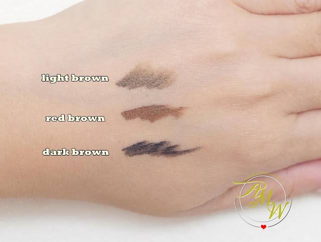 swatch photo of Project Vanity x Ellana Lifeproof Eyebrow Gel Review by Nikki Tiu