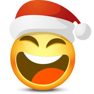Laughing Santa Smiley