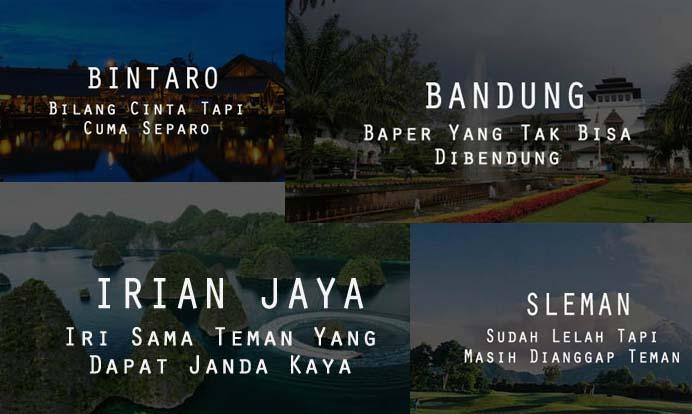 Inilah 12 Singkatan Nama Kota di Indonesia yang Bikin Kamu Baper dan Ketawa Sendiri