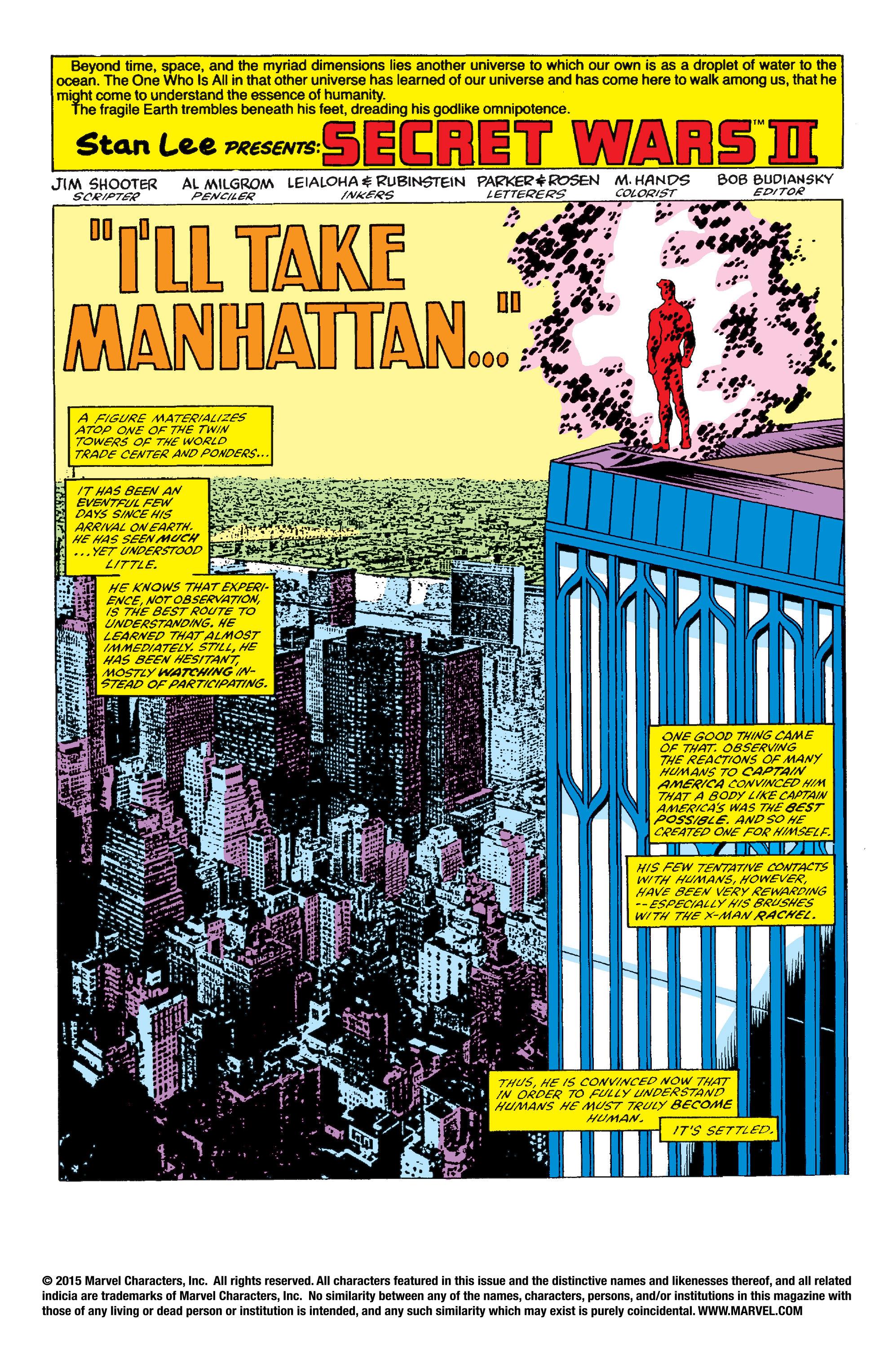 Read online Secret Wars II comic -  Issue #2 - 2