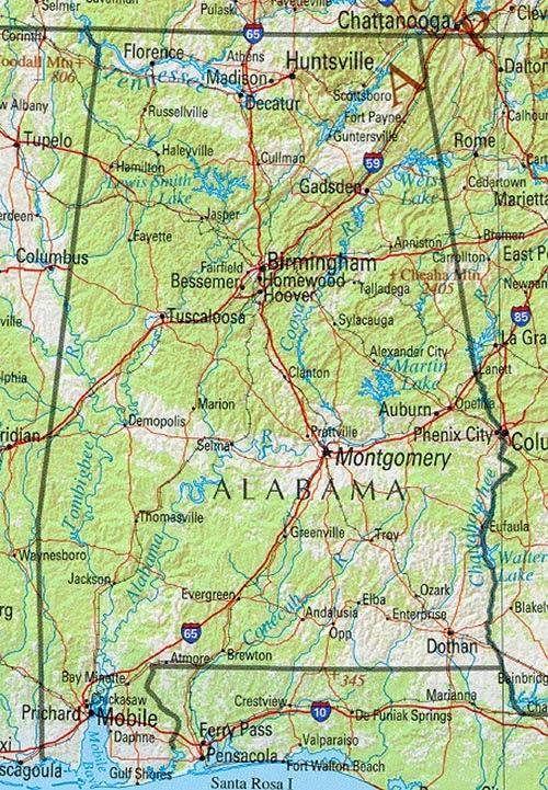 Free Printable Maps: State Of Alabama Road Map on alabama street map, alabama road atlas, alabama st map, united states map, alabama counties, alabama hwy map, alabama coastal map, south alabama map, official alabama highway map, alabama interstate map, birmingham alabama map, montgomery alabama map, california map, alabama river map, alabama on map, anniston alabama map, al map, alabama shore map, alabama info, alabama travel map,
