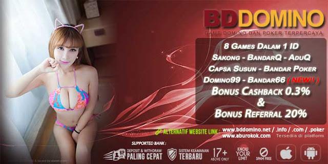 Bonus Cashback Judi Bandar66 Online BDdomino.info