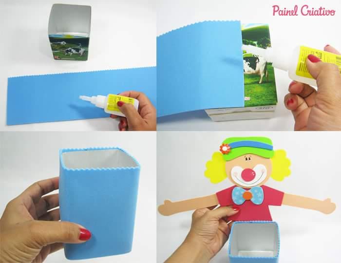 Manualidades Reciclando Cajas De Leche