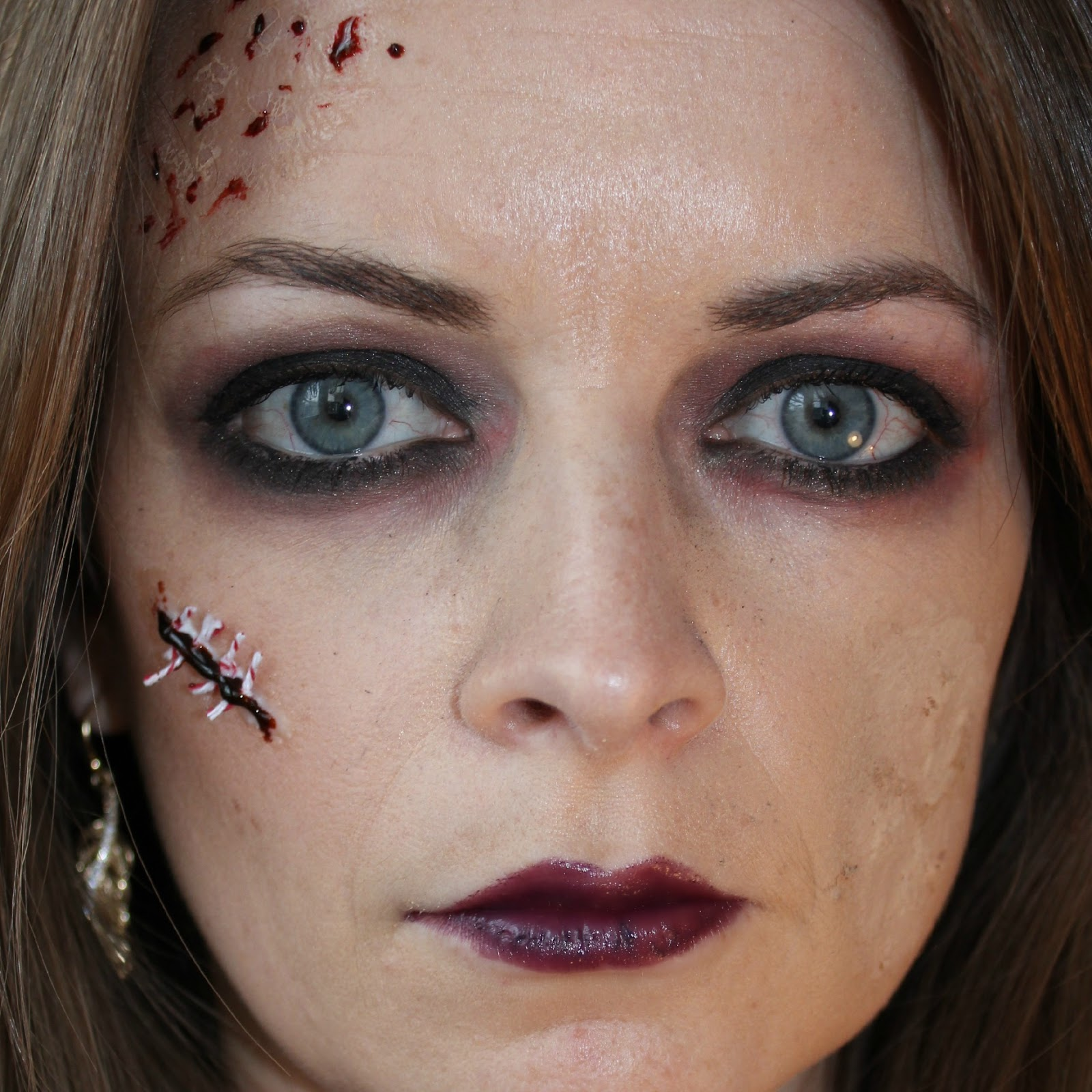 Stitch Halloween Makeup Scars On Pinterest Makeup Last Minute And Halloween