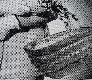 vintage shopping basket by karen vallerius