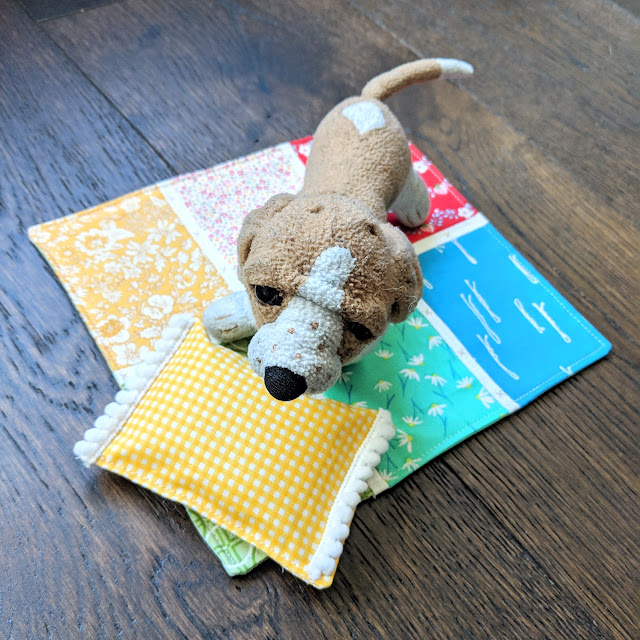Miniature Doll Quilt & Pillow by Heidi Staples of Fabric Mutt