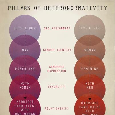 A heteronormatividade está no inconsciente da população.