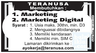 Loker Marketing Digital Teranusa Bandung