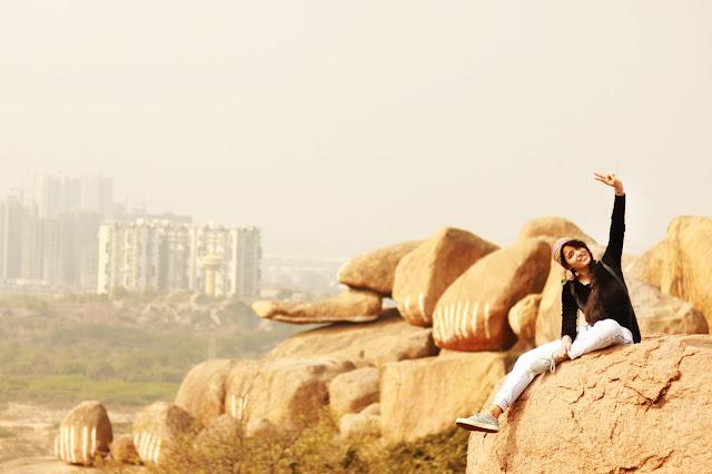 top view khajaguda hills hyderabad