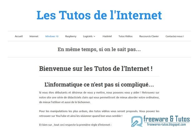 Le site du jour : Les Tutos de l'Internet