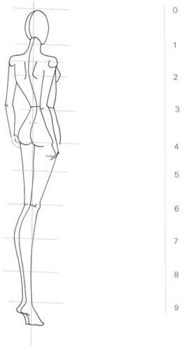 Cara Mudah Menggambar Sketsa Figur Tampak Belakang Belajar