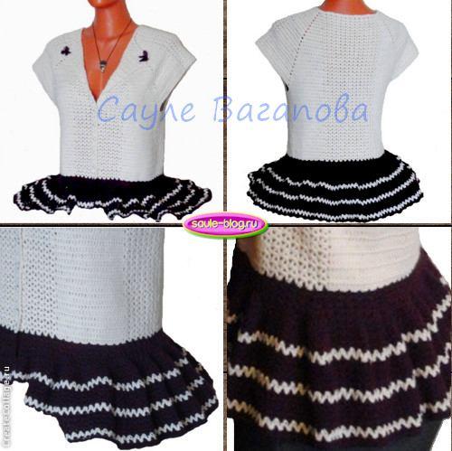 Стильная блуза с баской