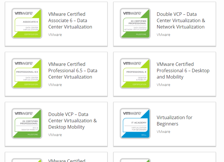 Virtualization The Future New Design Of Vmware Certification Badges
