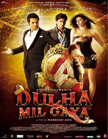 Poster Of Dulha Mil Gaya 2010 Hindi 600MB BRRip 720p ESubs HEVC Watch Online Free Download downloadhub.net