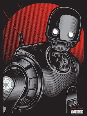 "Star Wars: Rogue One ""K2SO"" Screen Print by Hydro74 x Dark Ink Art"