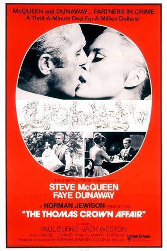 Thomas Crown Affair 1968 movie poster