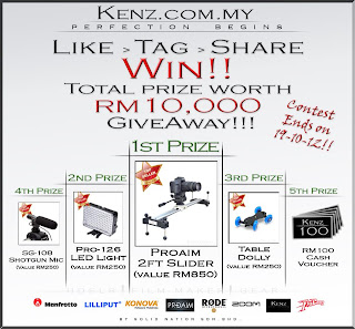 kenz - CONTEST - [ENDED] Win film maker items from Kenz.com.my