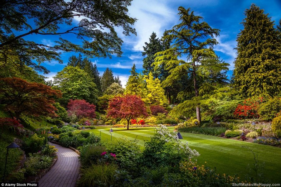 2. Butchart Gardens in British Columbia, Canada