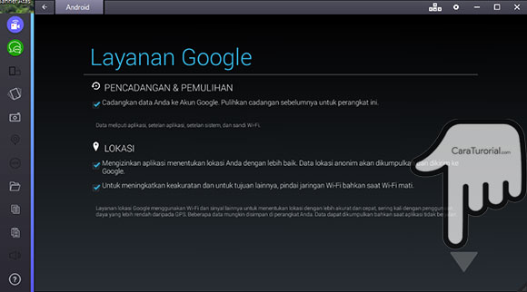 Layanan Google BlueStacks