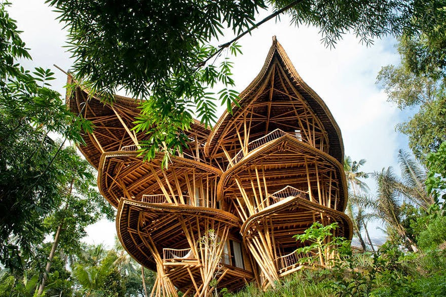 However, these bamboo homes don't just have their aesthetics going for them. - She Creates Extravagant Tropical Paradises Made Only From Bamboo, Just Check Out The Inside.