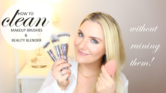 HOW TO CLEAN MAKEUP BRUSHES AND BEAUTY BLENDERS | MAKEUP FOR BEGINNERS