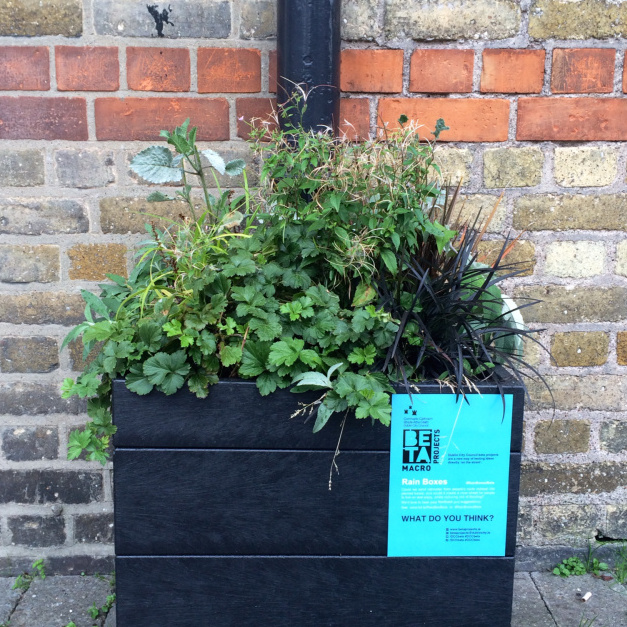 Rainbox planter trial by Dublin City Council Beta