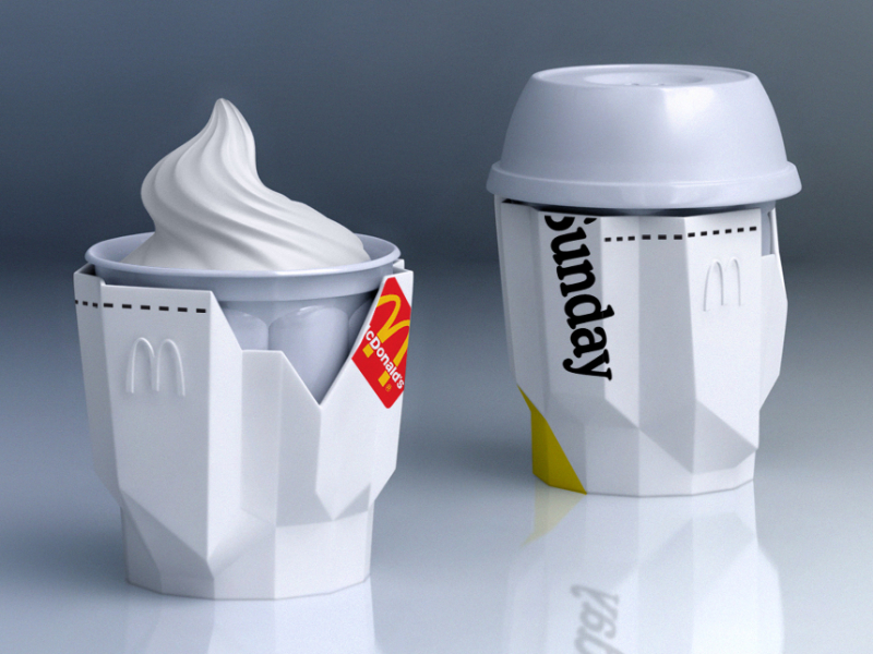 McDonald's / silicone overpack