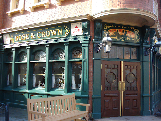 Restaurante e Pub Rose & Crown na Disney em Orlando