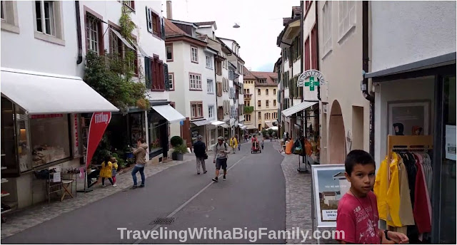 Walking tour of Basel, Switzerland with a big family