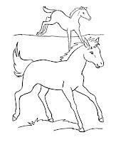 דפי צביעה סוסים