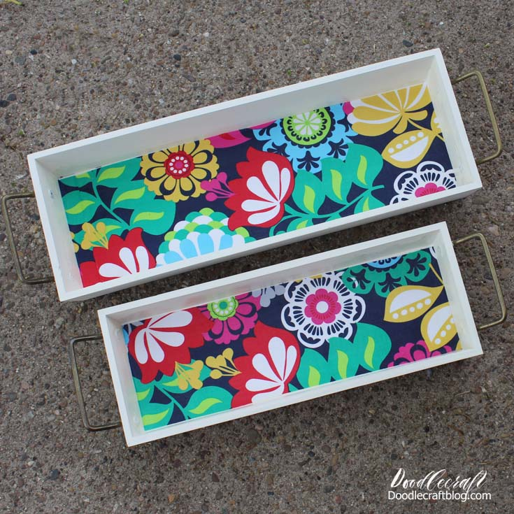 mod podge crafts wood stacking trays