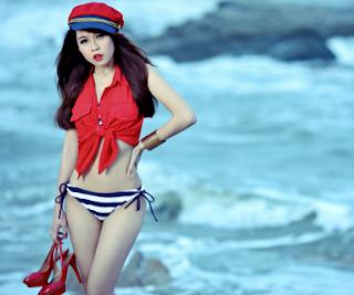 Ảnh hot girl Sam bikini trên facebook-Diễn viên sam lộ ảnh nóng xinhgai.biz