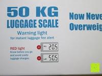 Info: GHB 50kg Digitale Gepäckwaage LCD Anzeige tragbare Handwaage Kofferwaage für Reise und Haushalt Silber