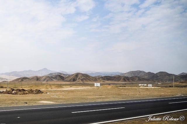 Route dans le désert péruvien