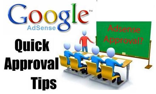 Quick Google Adsense Approval