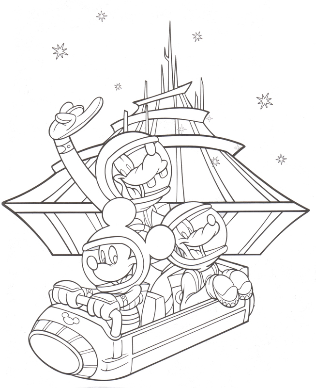 My Disney Club: Space Mountain Coloring Page