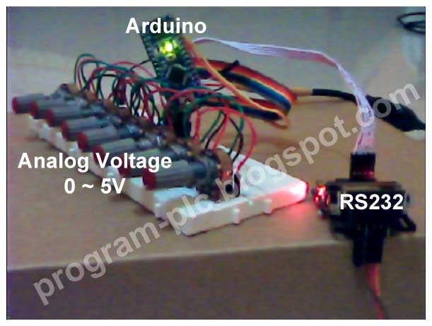 Arduino, TTL to RS232 and Potentiometer