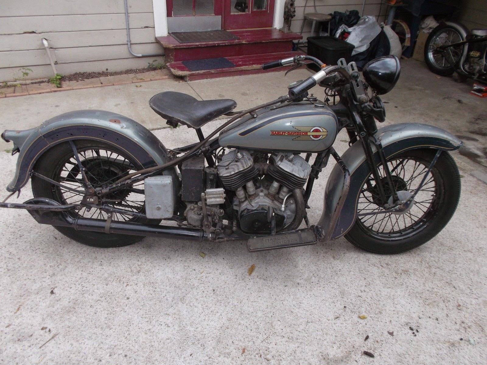1936 Harley Davidson Barn Find - Rusty Knuckles - Motors ...