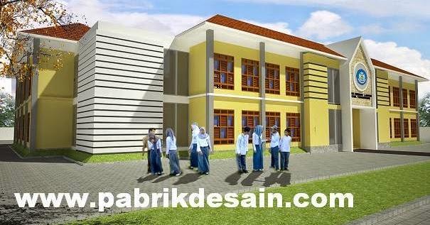 JASA INTERIOR 3D MURAH Desain Bangunan Modern Gedung Sekolah Islam SD SMP SMA