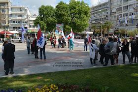 Η εκδήλωση του ΠΑΜΕ για τον εορτασμό της Εργατικής Πρωτομαγιάς στην Κατερίνη