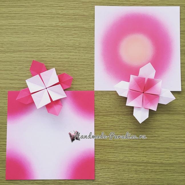 Гортензия из бумаги в технике оригами (12)