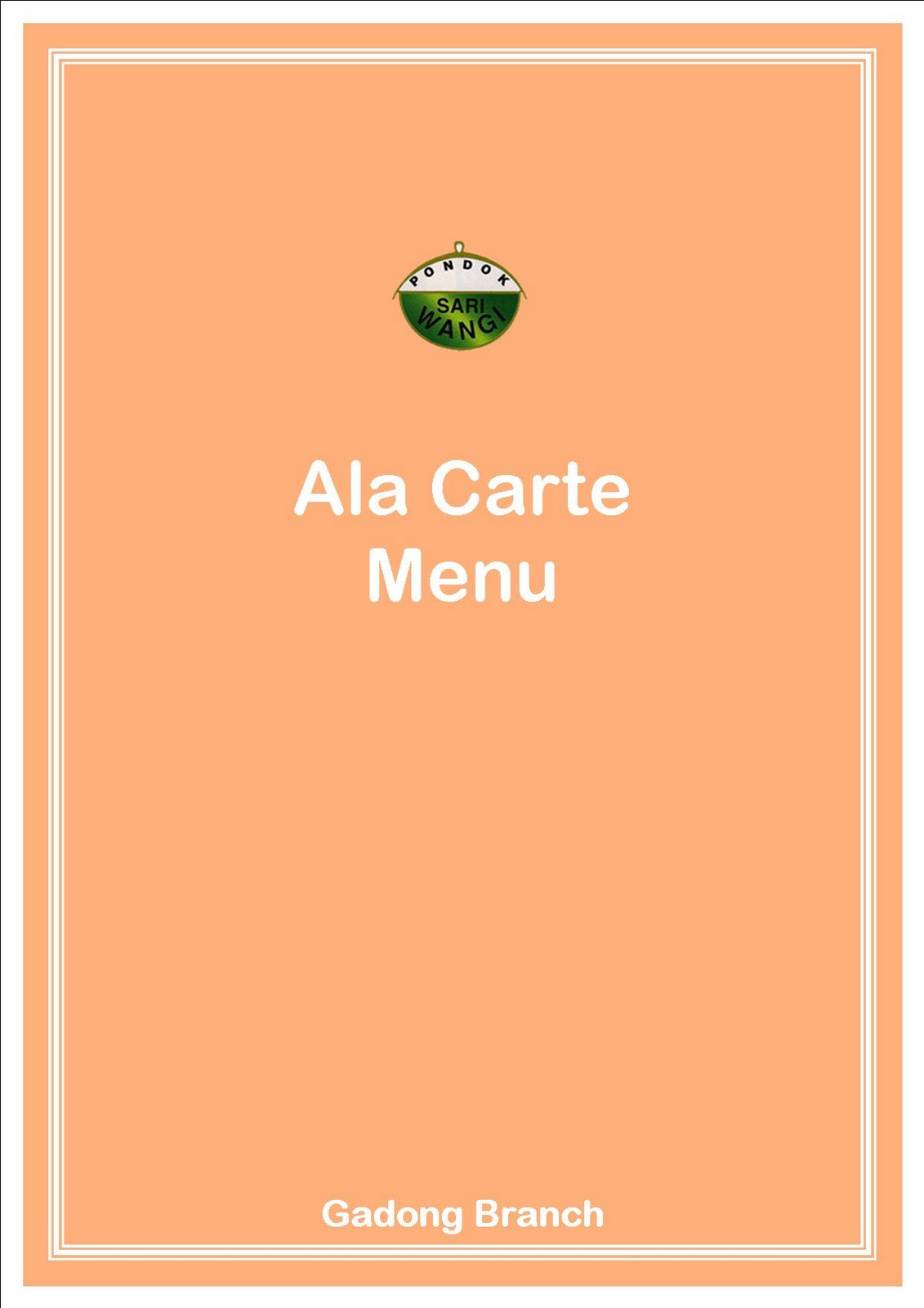 Different Ways Restaurants Menu Ala Carte