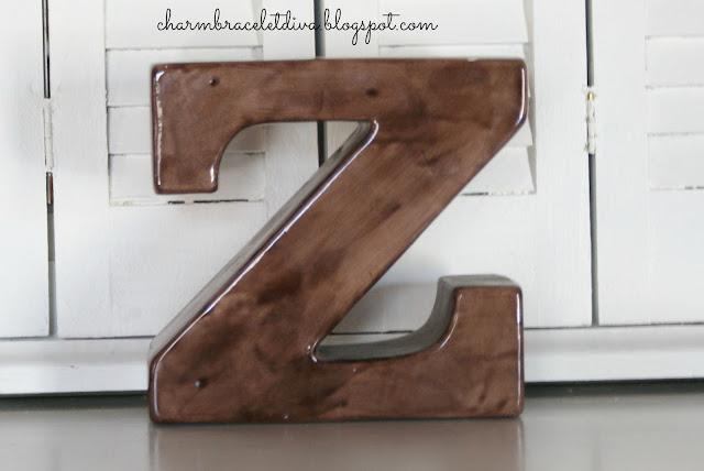 ceramic block letter Z