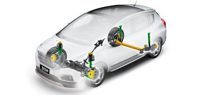 Hệ thống treo Peugeot 3008 được thiết kế kiểu MacPherson độc lập, giúp cho xe vận hành êm ái trên mọi nẻo đường